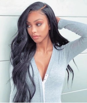 100% virgin human hair body wave front lace wigs