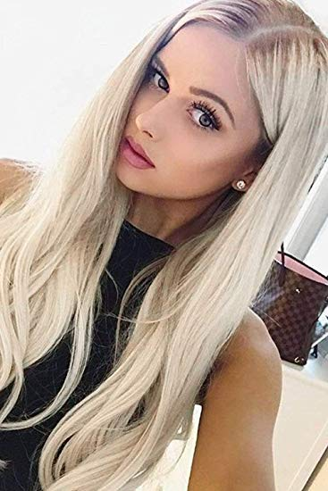 Women Girls Long Wavy Cosplay Blonde 100 Cm Super Long Heat Resistant Hair Wigs