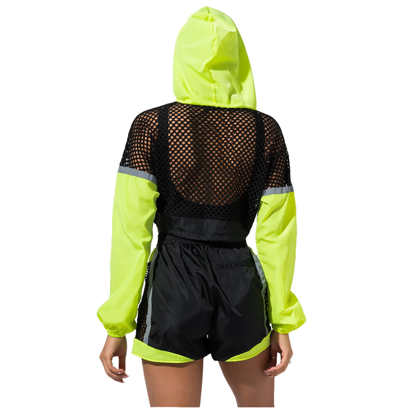 Two pieces Long Sleeve Crop Top and Shorts Tracksuit