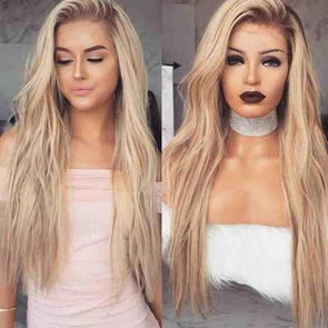 Lace Front Wig Blonde Wig Long Hair Brown Wigs for Black Women Synthetic Lace Front Wigs Long Wavy Heat Safe Fiber Hair Wig