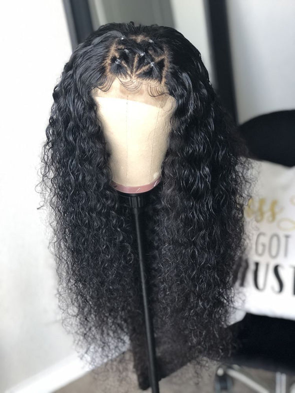 Full Lace Human Hair Braided Wig 360 Full Lace Wigs Human Hair With Baby Hair Red Black Wig