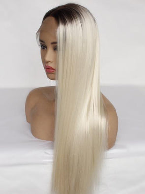 8~32inch Fast Delivery and best price ombre 1B/613 blonde human hair full lace wig with baby hair