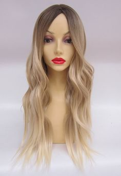 ombre 1B/613 blonde human hair full lace wig with baby hair