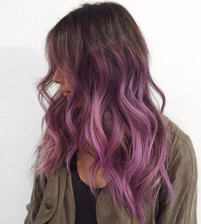 Purple Wig 1 Day Hair Dye Ombre Light Purple Hair