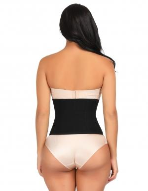 Body Shaper Sexy Slimming High-Compression Large Size Waist Slimmer Hook Closure Curve Slimmer Black