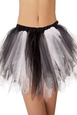 Black White Vintage Tutu Skirt