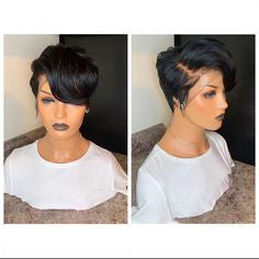 Short Wigs For Black Women best short black wigs human hair