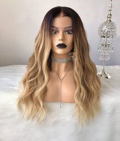 lace front wig brown middle part wig brown synthetic lace front wig bs110 wig wig brown short