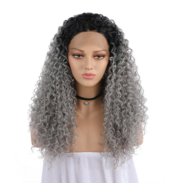 Gray Salt N Pepper Wigs With Lace Front