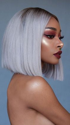 Bobbi Boss Grey Wigs With Reasonable Price