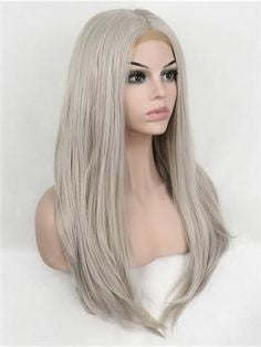Grey Wig Lace Front Under $100