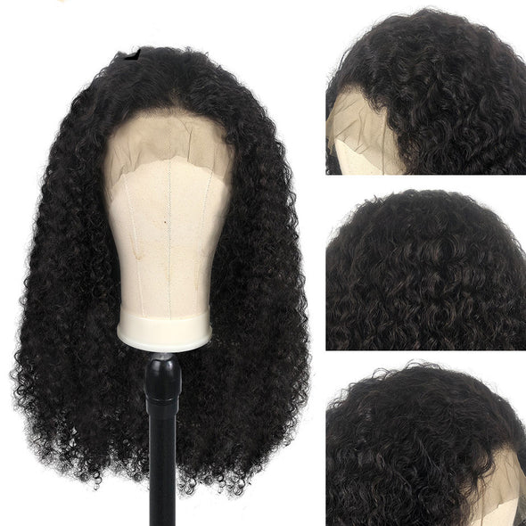 Lace Front Human Hair Wigs With Baby Hair Curly Lace Front Wigs Brazilian Remy Hair Knots Bleached 130 Density