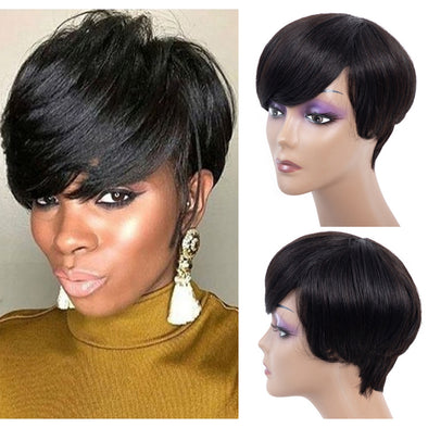 Black Straight Wig Bob Wigs Body Wave Short Human Hair Wigs Lace Front Wigs