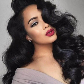 Black Wave Lace Front Wigs Human Hair Wigs Deep Wave