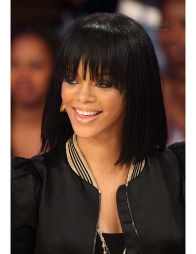 Lace Frantal Bob Wigs Black Straight Wig For African American Women The Same As The Hairstyle In The Picture