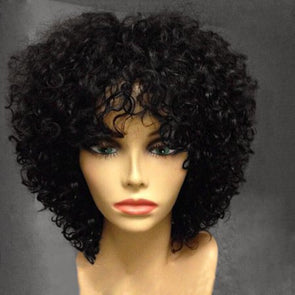 Side part Pre Plucked brazilian curly Lace Front Wigs For africa american women