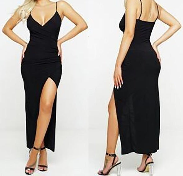 High Cut Sexy Black Bed Gown