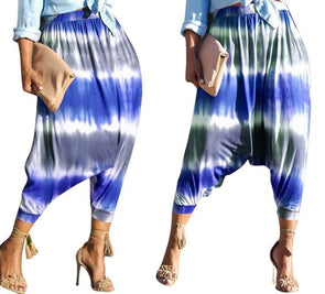 Print Colorful Hippie Pants