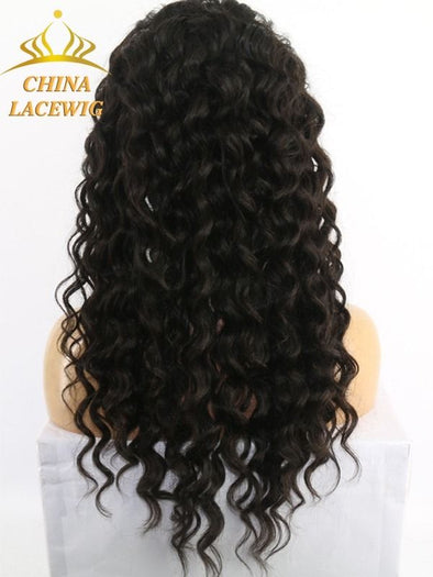 Black Wave Lace Front Wigs Human Hair Short Finger Wave Wig