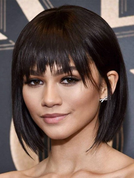 Lace Bob Wigs Black Wig For Black Women The Same As The Hairstyle In The Picture