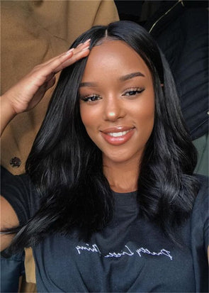 Lace Frontal Wigs black synthetic wig In Dianawigs.com