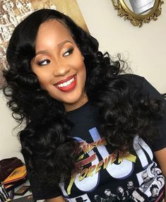 Black Wave Lace Front Wigs Indian Water Wave Wig