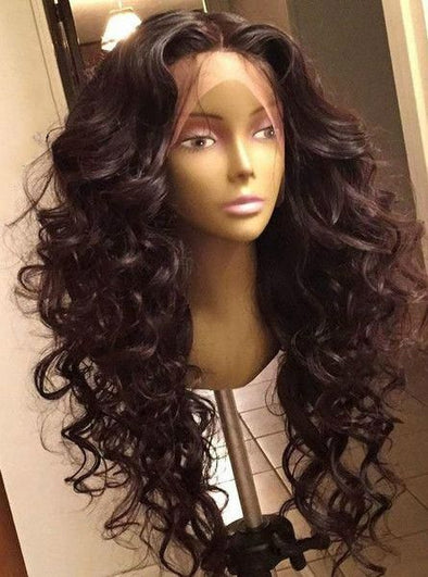 Black Wave Lace Front Wigs Finger Wave Wigs For Sale