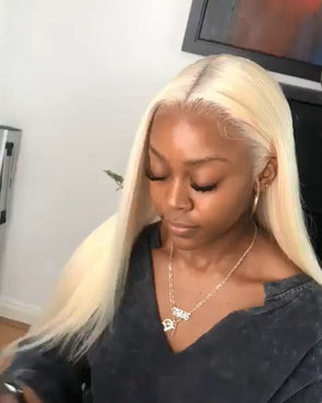 Blonde Wigs 100 Human Hair Lace Front Wigs