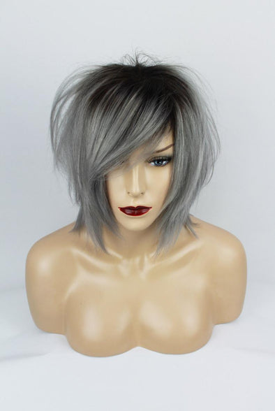 Grey Bob Wig With Lace Front Under $100