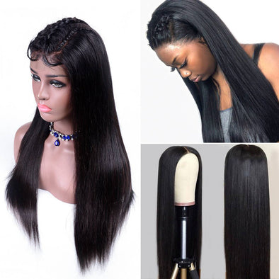 Human Lace Hair Wigs Straight Hair Human Hair Wigs Brazilian Lace Front Wigs 120% - 180% Density Ladies Wigs