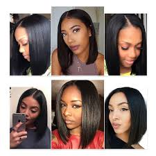 Lace Bob Wigs Black Hair For African American Women The Same As The Hairstyle In The Picture