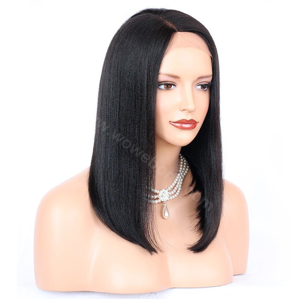 Lace Bob Wigs Black Short Hair For African American Women The Same As The Hairstyle In The Picture