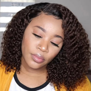 Lace Front Afro Wigs For Black Women SHORT WET LOOK, Pixie Style, Mommy Wig, Tapered Back
