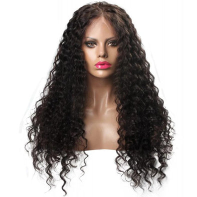 LACE FRONT HUMAN HAIR WIGS PRE PLUCKED WITH BABY HAIR BRAZILIAN DEEP WAVE