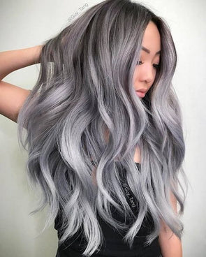 Gray Pixie Wigs With Lace Front