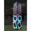 Load image into Gallery viewer, 12Ft Tall Tower 01 Tension Fabric Formulate Exhibit Structure