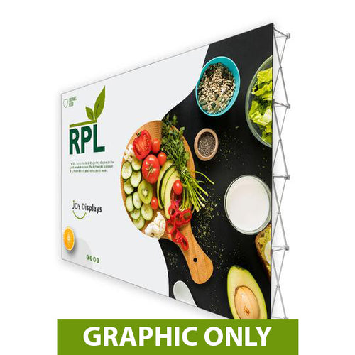 GRAPHIC ONLY - 15'X10' RPL Fabric Pop Up Display Straight Replacement Graphic