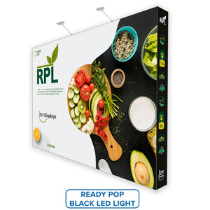 15'X10' RPL Fabric Pop Up Display Straight Trade Show Exhibit Booth