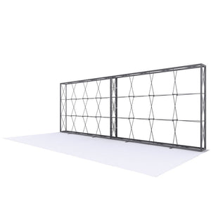 20 Ft Lumière Light Wall® 8 Ft Tall Configuration D - No Lights (Trade Show Exhibit Booth)