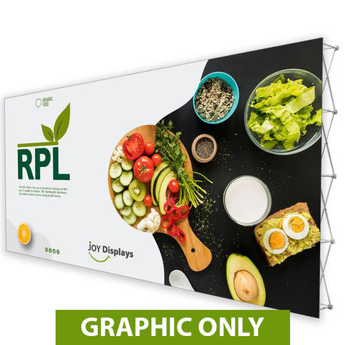 GRAPHIC ONLY - 20'X10' RPL Fabric Pop Up Display Straight Replacement Graphic