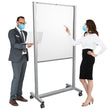 "Load image into Gallery viewer, 36""W x 72""H Floor Standing Steel Frame Plexiglass Sneeze Guard With Caster Wheels"