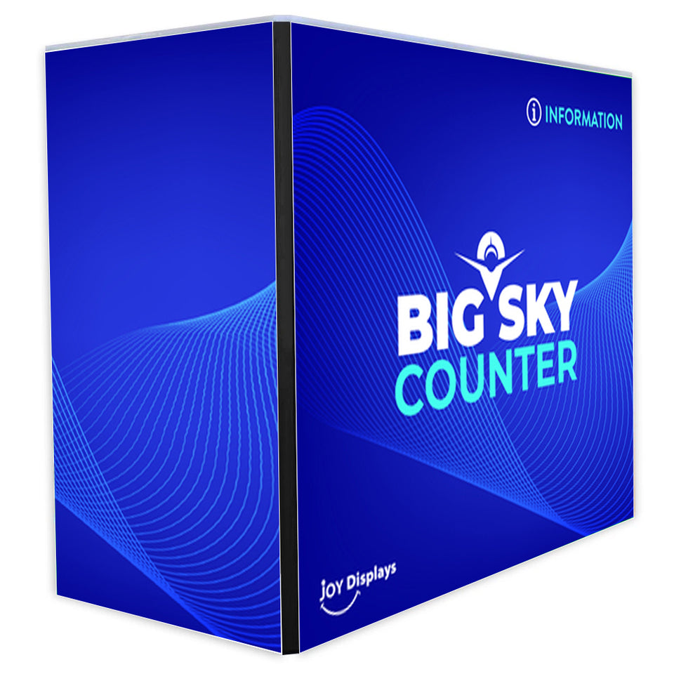 4 ft. x 2 ft. x 40 in. Big Sky Counter BLACK