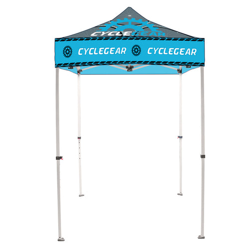 5 Ft. Casita Canopy Tent - Steel - Full-Color UV Print Graphic Package