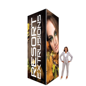 6'W x 12'H x 6'D - 60D Big Sky Square Exhibit Tower
