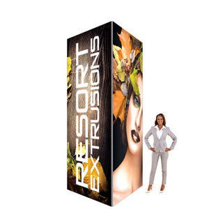 BACKLIT - 6'W x 12'H x 6'D - 60D Big Sky Square Exhibit Tower