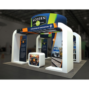 20X20 Trade Show Exhibit - Island Booth Hybrid Pro 20