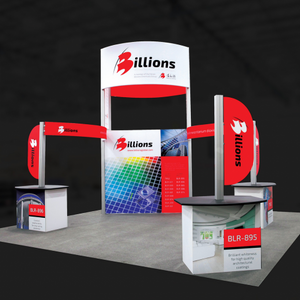 20X20 Trade Show Exhibit - Island Booth Hybrid Pro 17