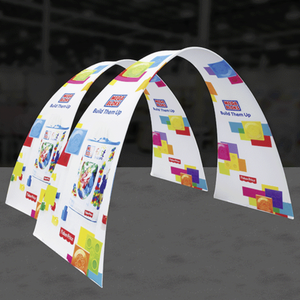 10Ft Arch 02 Tension Fabric Formulate Exhibit Structure