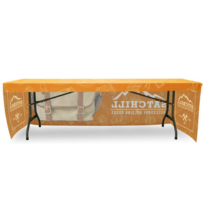 Fitted Table Throw Full Color 8 Ft. With Custom Dye-Sub Print