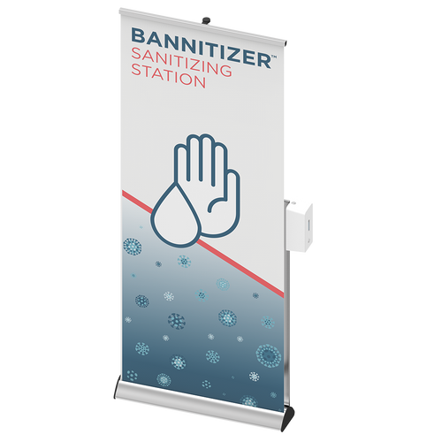 Contactless Sanitizing Stand with Banner